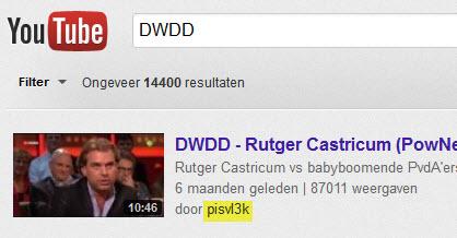 Pisvl3k plaatst content van DWDD op Youtube